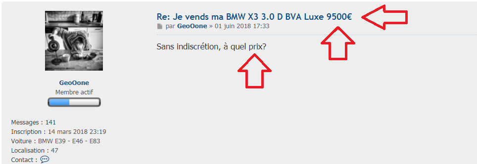 je vends ma bmw x3 3 0 d bva luxe 9500 forum ma bmw. Black Bedroom Furniture Sets. Home Design Ideas
